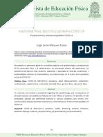 Inactividad física, ejercicio y pandemia COVID-19
