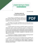 Gacetilla - 27 de Octubre - Es Urgente Aborto Legal 2020- Contactos
