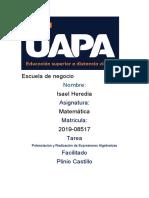 Tarea 7 De Matematica Isael Heredia