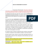 A SUBLIMIDADE DO CONHECIMENTO DE CRISTO
