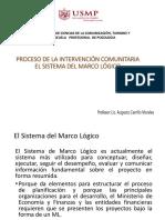 PROCESO DE LA INTERVENCION COMUNITARIA - EL SISTEMA DEL MARCO LÓGICO