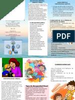folleto de discapacidad sensorial y auditiva