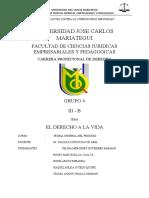 DERECHO A LA VIDA GRUPO 4.