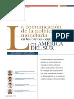 La comunicación de la politica monetaria en los bancos centrales