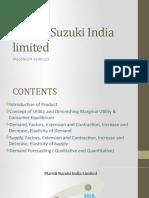 Maruti Suzuki India limited