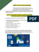 Clasificacion de los sitemas fotovoltaicos