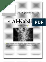 Les grands péchés  « Al-Kabâir » l'imam ad-Dhahabi