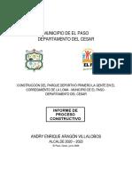INFORME PROCESO CONSTRUCTIVO