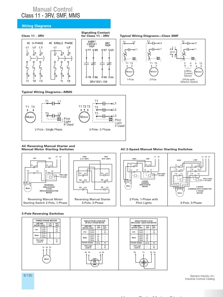 Typical Wiring Diagrams Siemens 4 Pole Switch Diagram