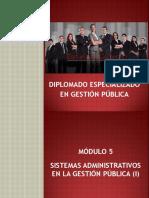 Diplomado en Gestión Pública - Quinto Módulo Esgob
