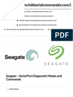 Seagate - Serial Port Diagnostic Modes and Commands - HDD Serial Commander