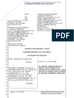 20-10-27 Apple-Intel Opposition to Fortress' 2nd Motion to Dismiss