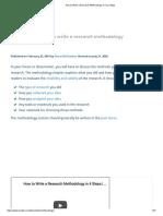 Writing Research Methodology