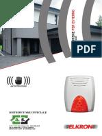 Brochure ELKRON SIRENE HPA800 Antintrusione Antincendio