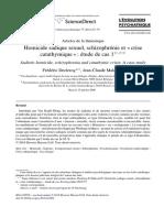 F. Declercq - J.C. Maleval - Etude de cas - Homicide sadique sexuel