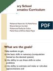 Primary School Mathematics Curriculum