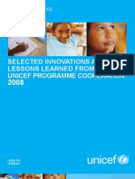 INNOVATIONS AND LESSONS LEARNED FROM UNICEF