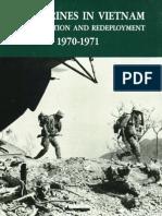 U.S. Marines in Vietnam Vietmanization and Redeployment 1970-1971