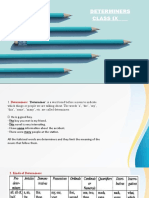 PPT DETERMINERS