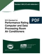 ANSI AHRI Standard 1360 I-P 2013 With Addendum 1