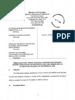 2019-DCRA-00135 Order Granting DMPED