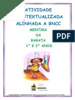 ATIVIDADE CONTEXTUALIZADA ALINHADA A BNCC mentira da barata