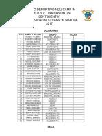 Acumulacion tarjetas copa Navida 2017