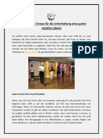 Rolle des Salsa-Tanzes für die Unterhaltung eines guten sozialen Lebens