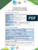Guía de actividades y rúbrica de evaluación - Paso 3 -Revisión y análisis de  artículos científicos (1)