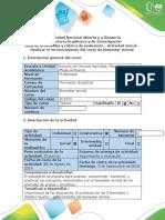 Guía de actividades y rúbrica de evaluación - Actividad inicial - Realizar el reconocimiento del curso de bienestar