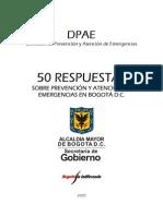 50RESPUESTAS SOBRE PREVENCION Y ATENCION DE EMERGENCIAS