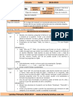 Agosto - 5to Grado Inglés (2018-2019)