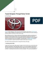 MMI - Toyota Blog (Ghost Written)