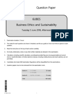 ABE Level 6 Business Ethics and Sustainability Question paper June 2018