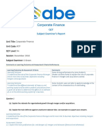 ABE Level 6 Corporate Finance Examiner Report Dec 2016