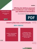Webinário_ Oficina de Defesa Pessoal para Mulheres