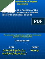 The IV classificanion of consonants