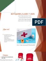 BOTIQUINES,CLASES Y USOS