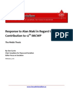 Response to Alan Maki in Regard to CPUSA Contribution to 12th IMCWP