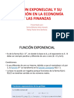 FUNCIÓN EXPONELCIAL Y SU APLICACIÓN EN LA ECONOMÍA
