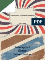 PPT Perbandingan Sistem Pemerintahan Kelompok 2