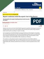 SWINE FLU 2009 - Report condemns swine flu experts' ties to big pharma