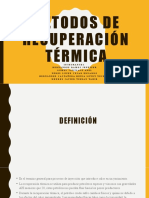 Métodos de recuperación térmica unidad 6