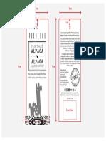 Pokoloko - Etiqueta colgante de papel - Con dimensiones
