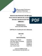 CAPITULO II - CLASIFICACIÓN DE LA GIMNASIA- TAREA GRUPAL