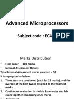 Advanced Microprocessors