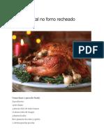 Peru de Natal no forno recheado