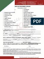 Formular inscriere cursuri cod 01 - Brasov