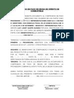COMPROMISO DE PAGO DE DEUDA DE CRÉDITO DE COMBUSTIBLE