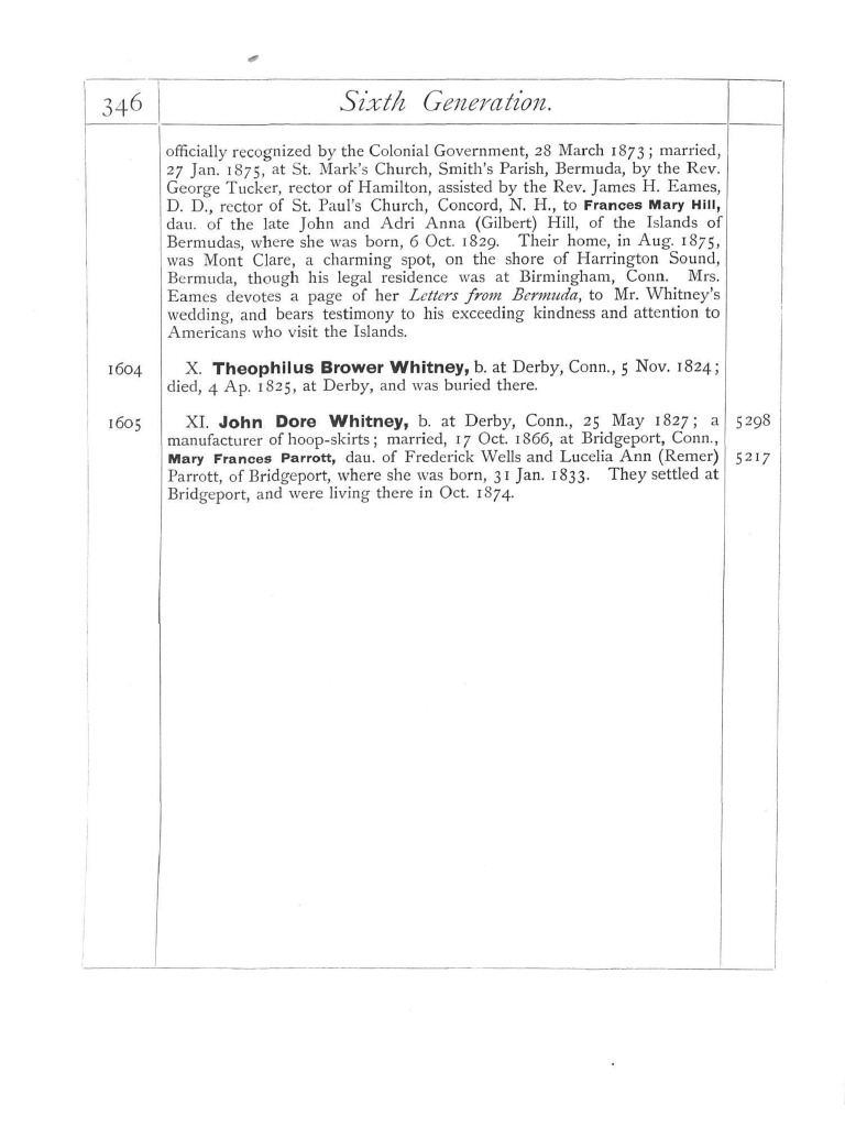 Whitney Family History Volume 1 Part 2 | Protestant Denominational Families  | Protestantism